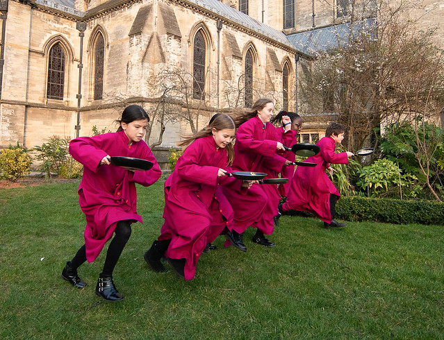 St John's Cathedral Norwich Pancake Races March 19
