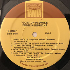 EDDIE KENDRICKS:GOIN' UP IN SMOKE(LABEL SIDE-B)