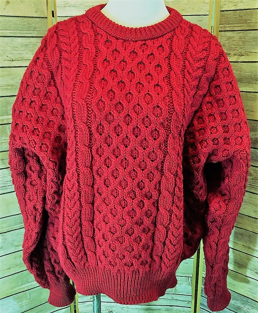 Red hot sexy wool sweater