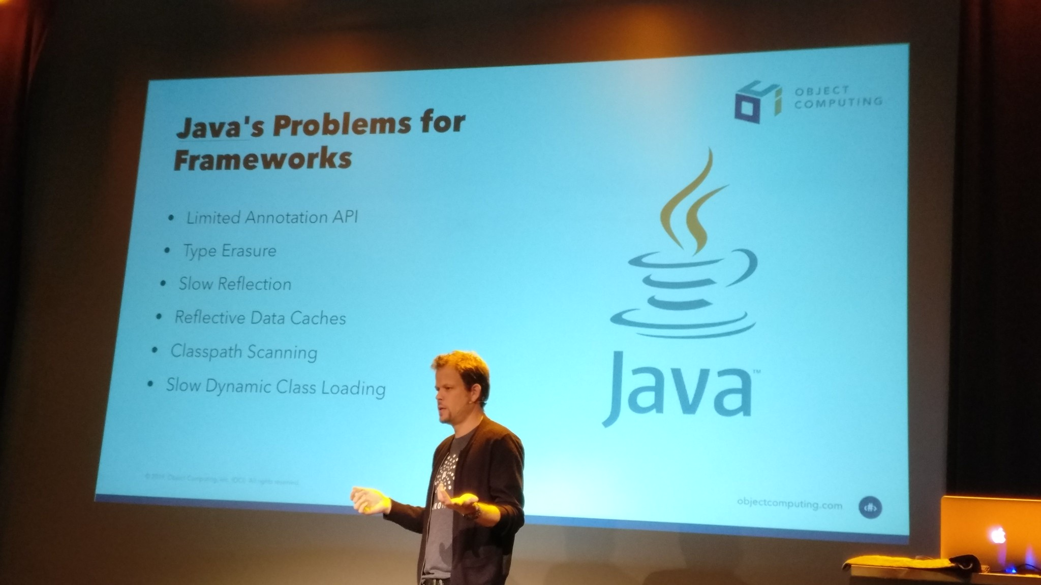 Graeme Rocher explaining Java's problems for Frameworks
