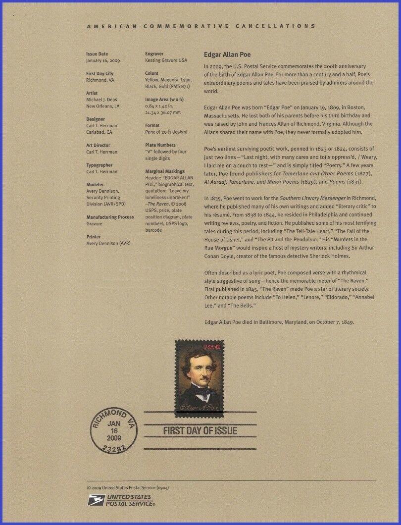 United States - Scott #4377 (2009) souvenir page