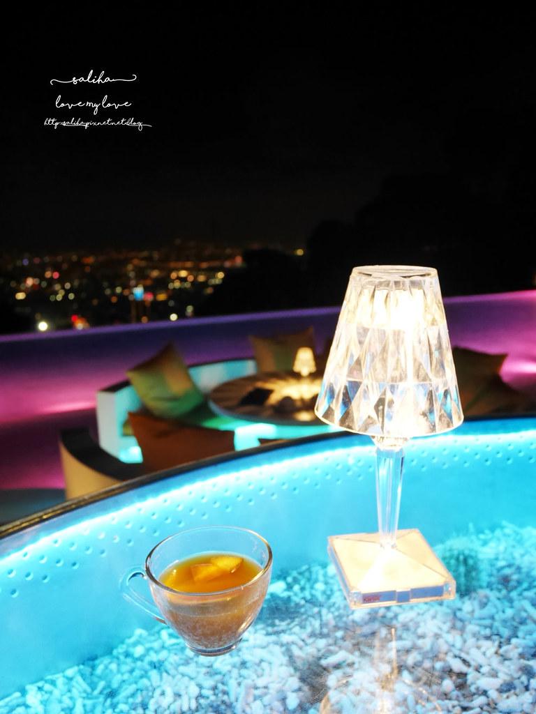 台北陽明山不限時夜景景觀咖啡廳餐廳推薦THETOP屋頂上超浪漫看夜景好去處下午茶 (2)