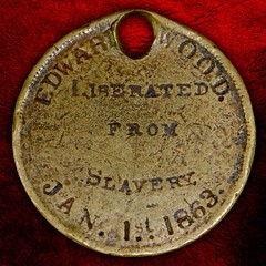 Edward Wood Emancipation Proclamation dog tag reverse