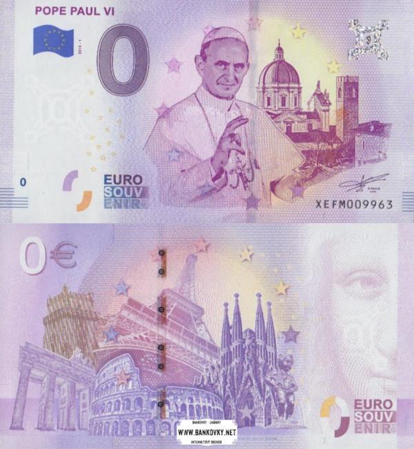 0 euro 2019 Vatikán - pápež Pavol VI.