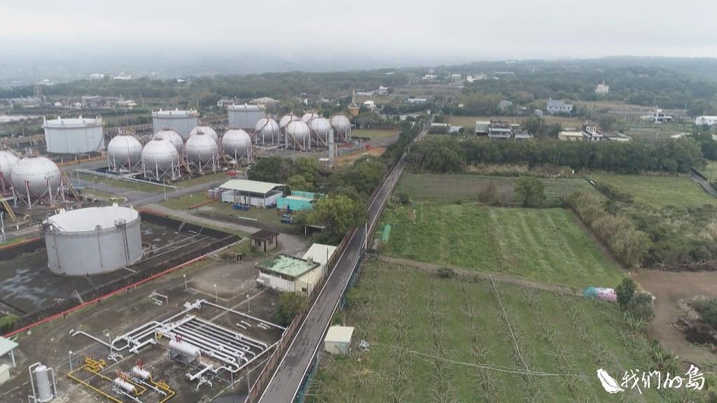 苗栗縣通霄鎮的鐵砧山礦場,是中油公司舊有的天然氣田。