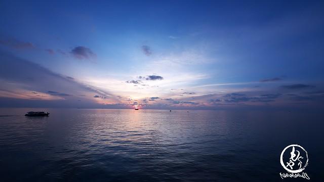 徐々に日が沈んでいきました♪