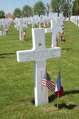 Grave of First Lieutenant William Bradford Turner recipient of the Congressional Medal of Honor Somme American Cemetery Bony Picardy France