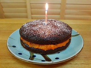 Chocolate Orange Spice Cake with Dulce de Batata