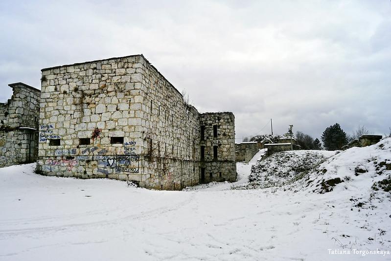 Вид на Верхнюю крепость Зворника