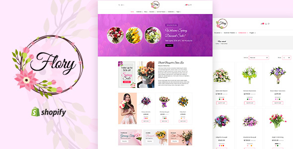 Flory v1.0 - Florist, Flower Bouquet, Gifts Shopify Theme
