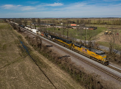 UP 8871 (SD70ACe) UP Train:MNLSF-25 Crawfordsville, Arkansas
