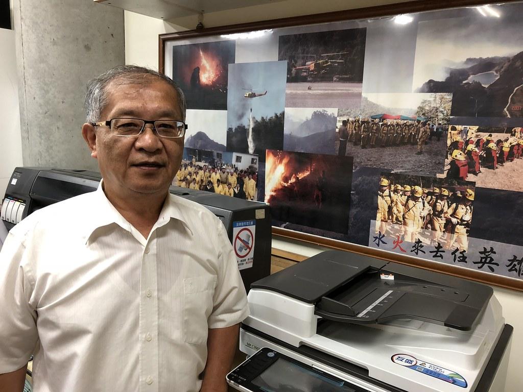 張獻仁累積逾20年森林打火行政經驗,堪稱國內第一人。攝影:廖靜蕙