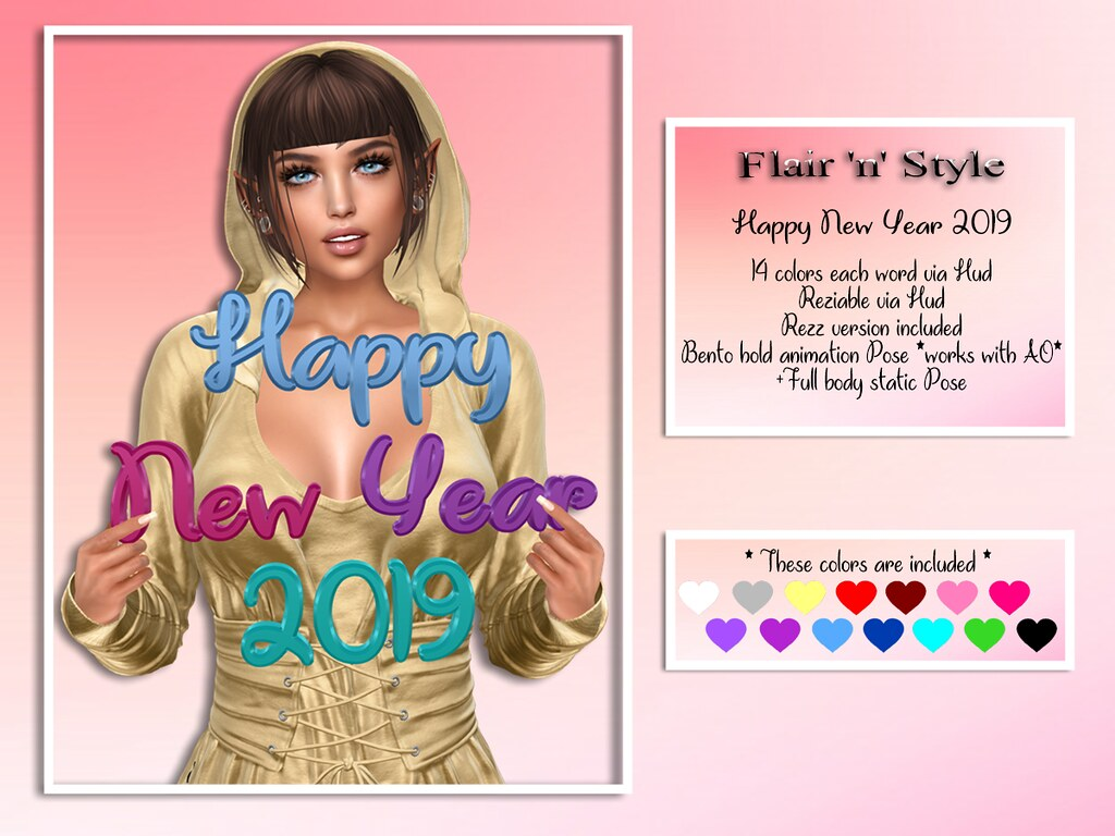 {Flair 'n' Style} Happy New Year 2019 - TeleportHub.com Live!