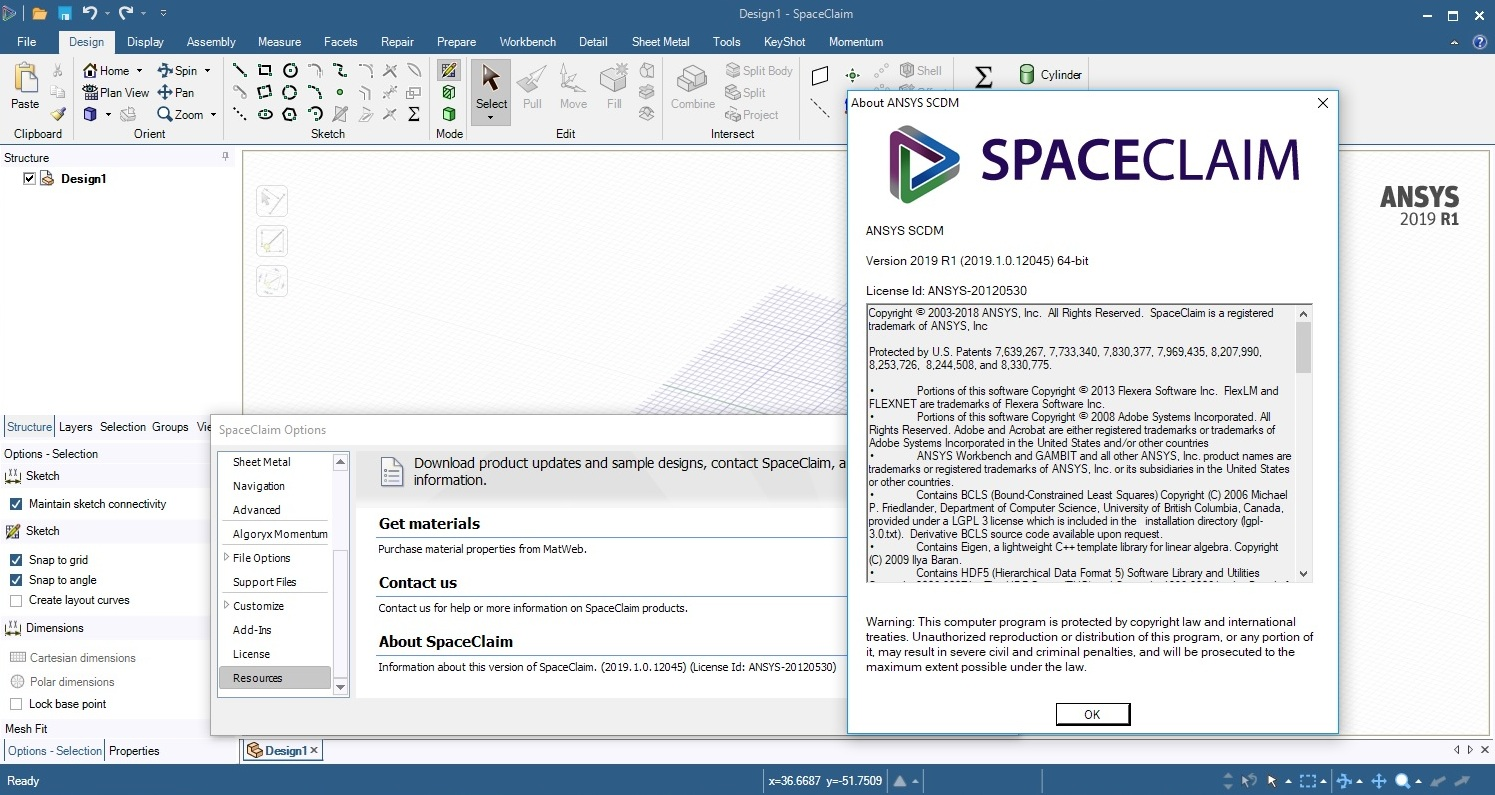 Working with ANSYS SpaceClaim Direct Modeler 2019 R1 full license