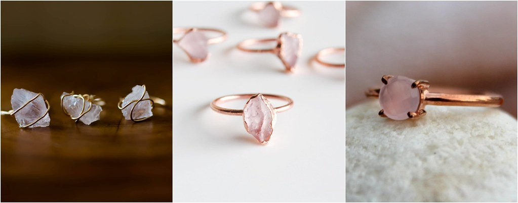 rose quartz rings
