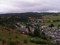 20080906 31493 1007 Jakobus St Alban Hügel Wald Wiese Häuser