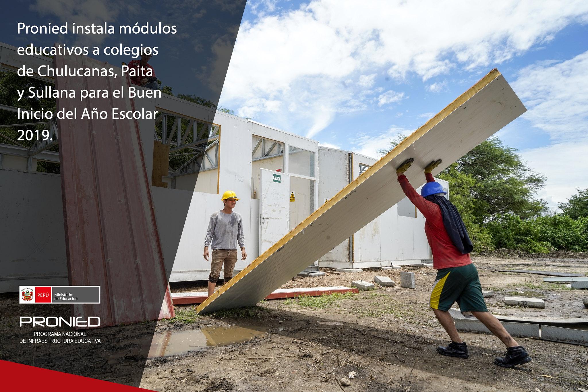 Pronied instala módulos educativos en la región Piura para el BIAE 2019