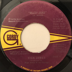 RICK JAMES:MARY JANE(LABEL SIDE-A)