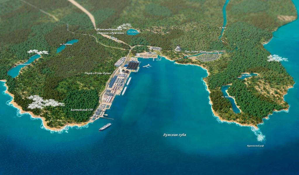 8 Схема расположения завода «Балтийский СПГ»
