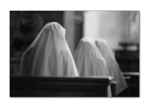3 nuns in b&w