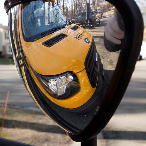 color canon digital school bus mirror flickr