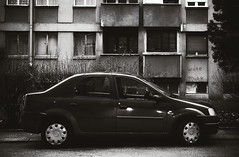 Parked Car in Front of a Building