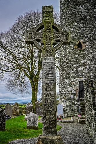 West High Cross at Mainistir Bhuithe Monasterboice - Monastery of Buithe - County Louth Irel