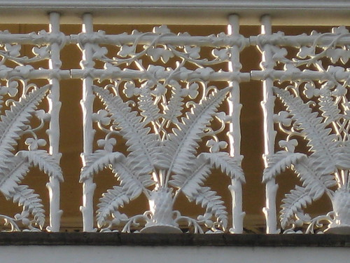 Cast Iron Lacework Detail of Goodrest Mansion; Toorak Road, South Yarra