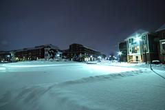 Night Neighborhood Snowfall