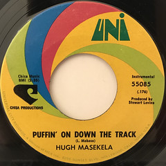 HUGH MASEKELA:PUFFIN' ON DOWN THE TRACK(LABEL SIDE-A)