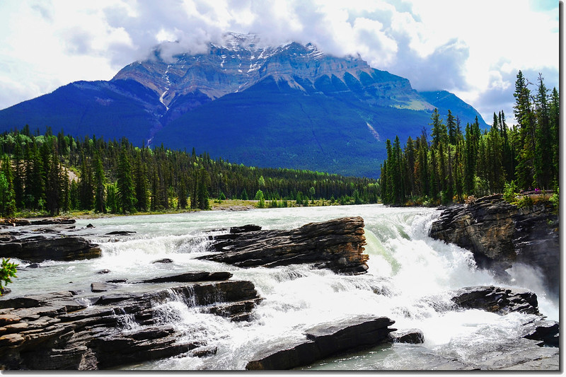 Athabasca Falls with Mount Kerkeslin as a Backdrop (Jasper National Park) 5