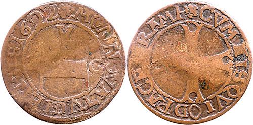 1622 Swiss 1 Batzen