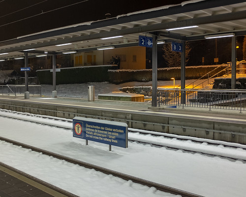 Winter in Säuliamt: Second track not used (2/2)