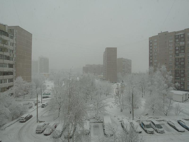 Зимняя сказка за окном. 10.12 am