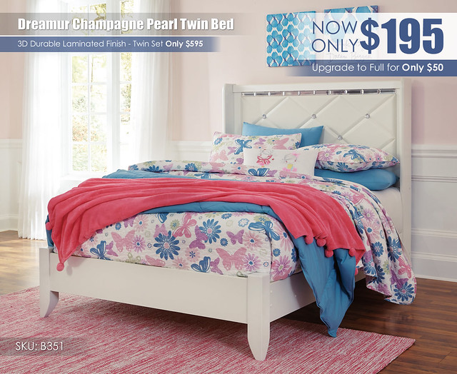 Dreamur Champagne Twin Bed_B351