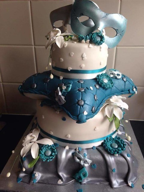 All Hand Made Wedding Cake by Amelia Goldsmith