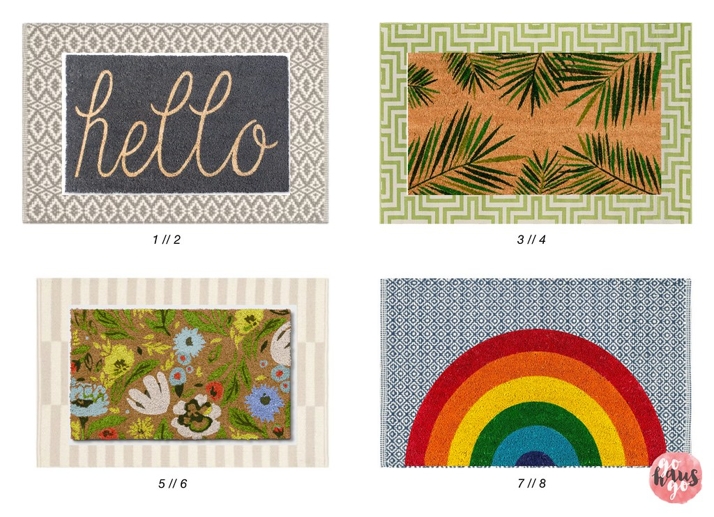 Layered Door Mats for Spring 2019