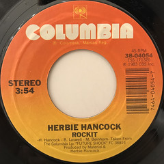 HERBIE HANCOCK:ROCKIT(LABEL SIDE-A)