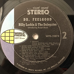 BILLY LARKIN & THE DELEGATES:DR.FEELGOOD(LABEL SIDE-B)