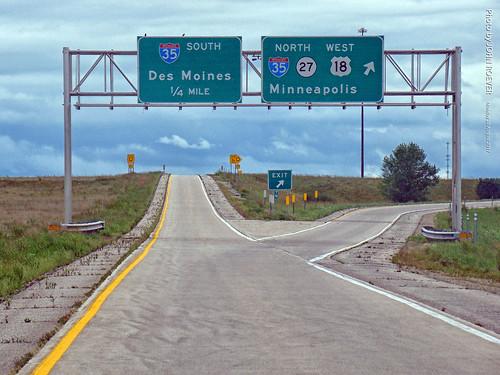 US-18 & I-35 Exit, 28 Aug 2017