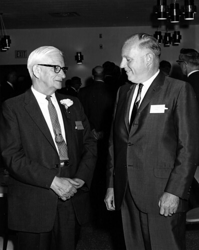 Dr. English and Cecil Roper (right), 1966.
