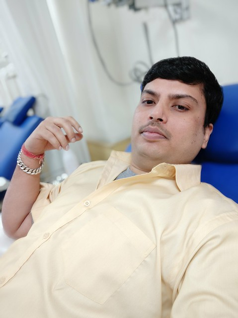 Blood donate at BLK Hospital - Dhiraj