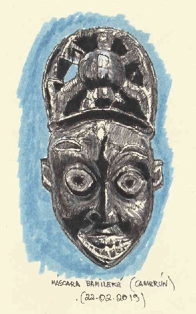 Máscara Bamileké. Camerún