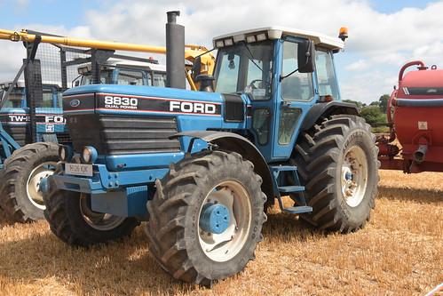 Melleray Vintage Club Vintage Combine Exhibition 2018 Ford 8830 Dual Power Tractor