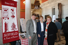 Rep. Zawistowski with CT Main Street CEO Patrick McMahon and Suffield Town Clerk Kathleen Dunai at Agriculture Day at the Capitol