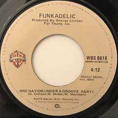 FUNKADELIC:ONE NATION UNDER A GROOVE(LABEL SIDE-A)