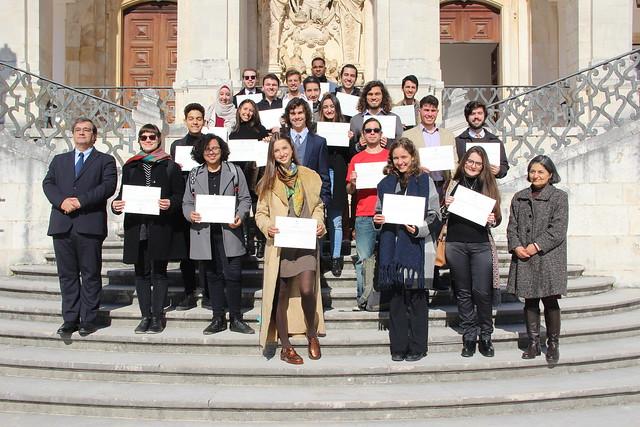 Cerimónia de entrega de certificados das bolsas de mérito estudantes internacionais 2018/2019