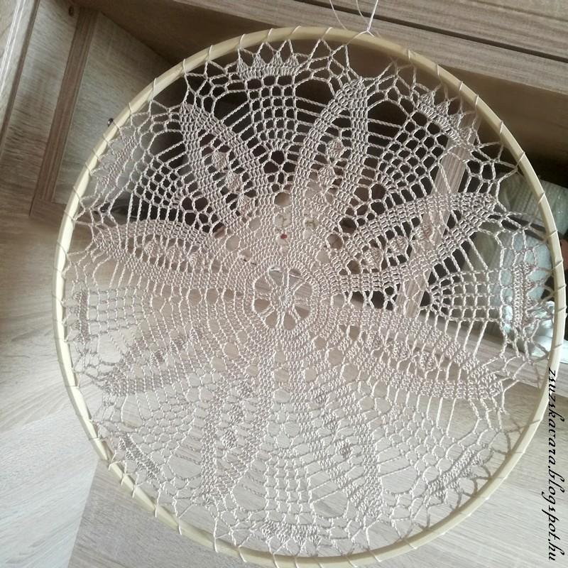 crochet doily, suncatcher, dreamcatcher, álomfogó (3)