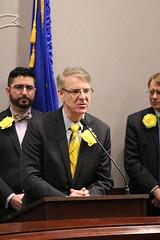 Rep. Ackert speaks in favor of legislation to improve the Care 4 Kids program