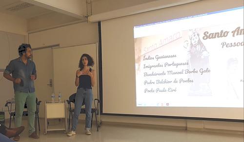 Danilo e Sofia Alunos da Extensão - 01 abril 2019